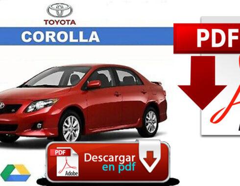 Toyota Corolla Manual y diagramas eléctricos